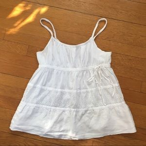 DKNY Pure Cotton Eyelet Top